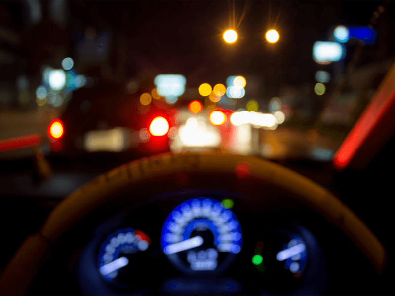 Trouble driving at night